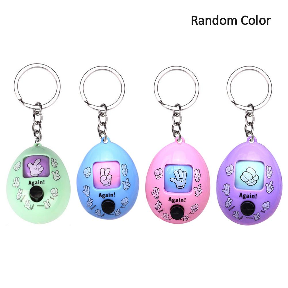 Family Game Rock Paper Scissors Play Toy Keychain Scissor Paper Stone Toys Key Chain Kids Egg Key Ring Rock Paper Scissors Toy