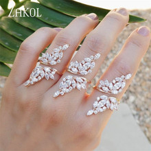 ZAKOL Vintage Gold Color Ring Crystal Zirconia Open Ring With Wing Shape Finger Jewelry For Women Men Gift FSRP232 elephant shape open ring page 3