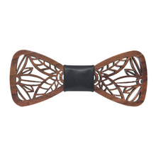 New Arrival Hollow Wood Bow Ties for Mens Wedding Suits Wooden Bow Tie Butterfly Shape leaves