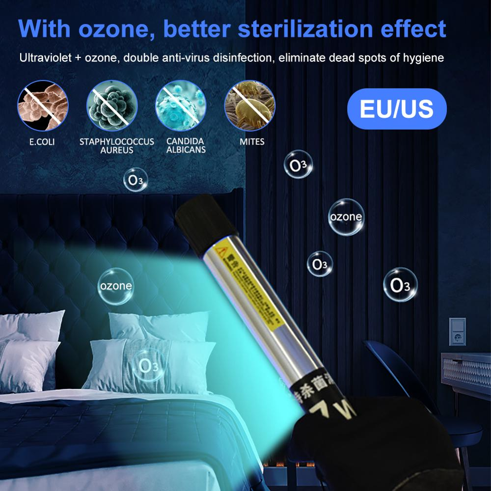 Handheld UV Germicidal Light UVC Sterilizer Kill Dust Mite Eliminator UV Quartz Lamp For Bedroom /Hospital Lampa Bakteriobójcza
