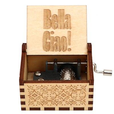 Гравировка ручной работы деревянная Настя музыкальная копилка подарок на день рождения на Рождество, дочь, подарки на день рождения для влюбленных - Цвет: BELLA CIAO 01