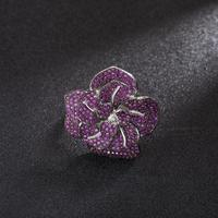 cz big red flower vintage ring for women Wedding Rings For Women Zircon Engagement Jewelry