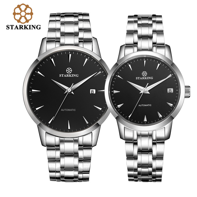 Original <font><b>Starking</b></font> Luxury Brand <font><b>Watch</b></font> Men Automatic Self-wind Stainless Steel 5atm Waterproof Business LOVERS' <font><b>Watch</b></font> Timepieces image
