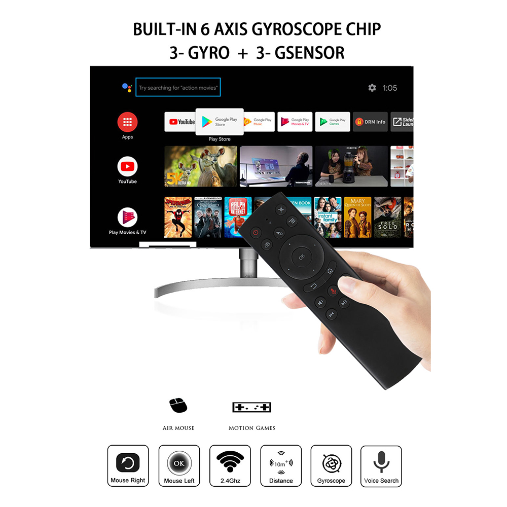 L8star G20S 2.4G Wireless Air Mouse Gyro Voice Control Sensing Universal Mini Keyboard Remote Control For PC Android TV Box 2