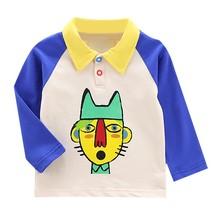 Autumn Boys T Shirt Baby Tops Children Clothes Toddler Shirts Kid Long Sleeve Cotton Soft T-shirts Boy Kids Cartoon Print Blouse цены