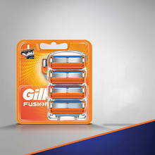 Têtes de rasoir à 3 ou 5 lames, pour Gillette Mache 3 ou Fusion, 4 pcs/lot, rasage et élimination des poils, soin du visage pour hommes