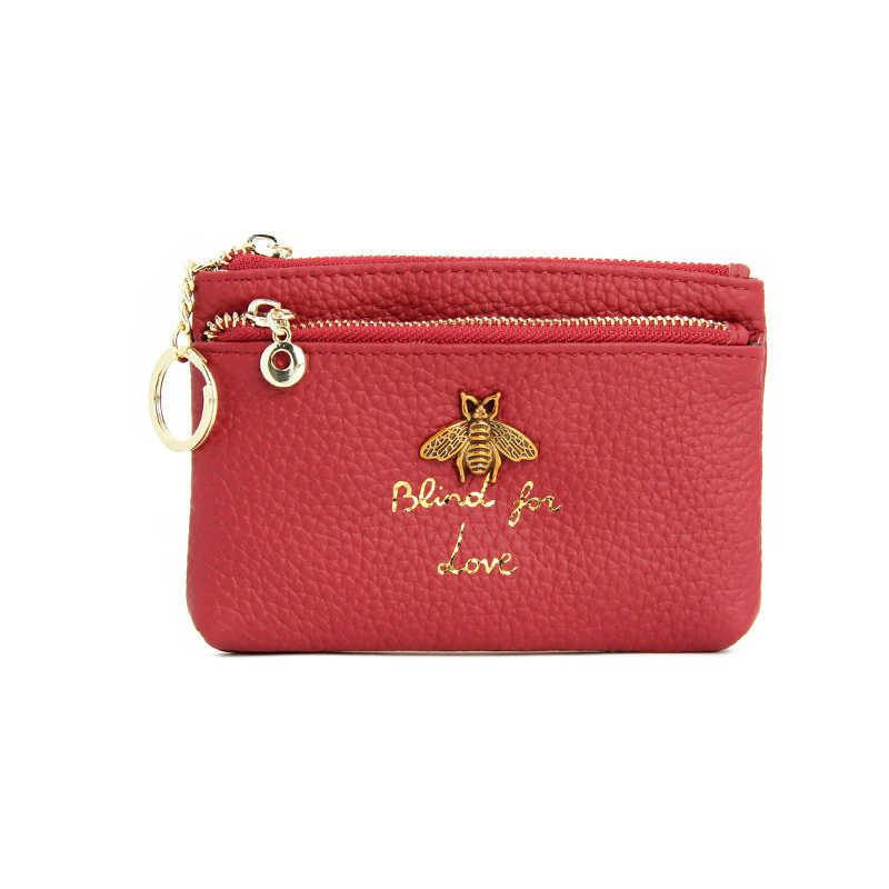 CICICUFF/брендовый кошелек из натуральной кожи для монет, женские Мини-кошельки для мелочей, детские карманные бумажники для монет, держатель для ключей, сумка на молнии, Новинка
