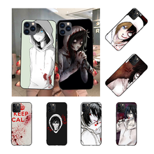 NBDRUICAI Jeff the killer Horror Animation Soft Silicone Black Phone Case for iPhone 11 pro XS MAX 8 7 6 6S Plus X 5S SE XR case(China)
