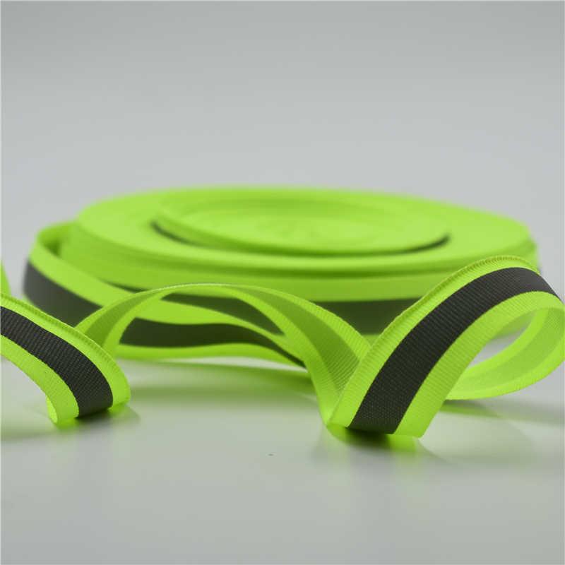 Cinta de nailon de 1 m, cinta reflectante de advertencia, cinta de RAYA ROJA verde, grifos de tejido de 2*1cm de ancho