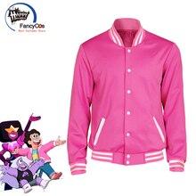 Uniform Costume Steven Universe Hoodie Coat Jacket Baseball Cosplay Halloween Unisex