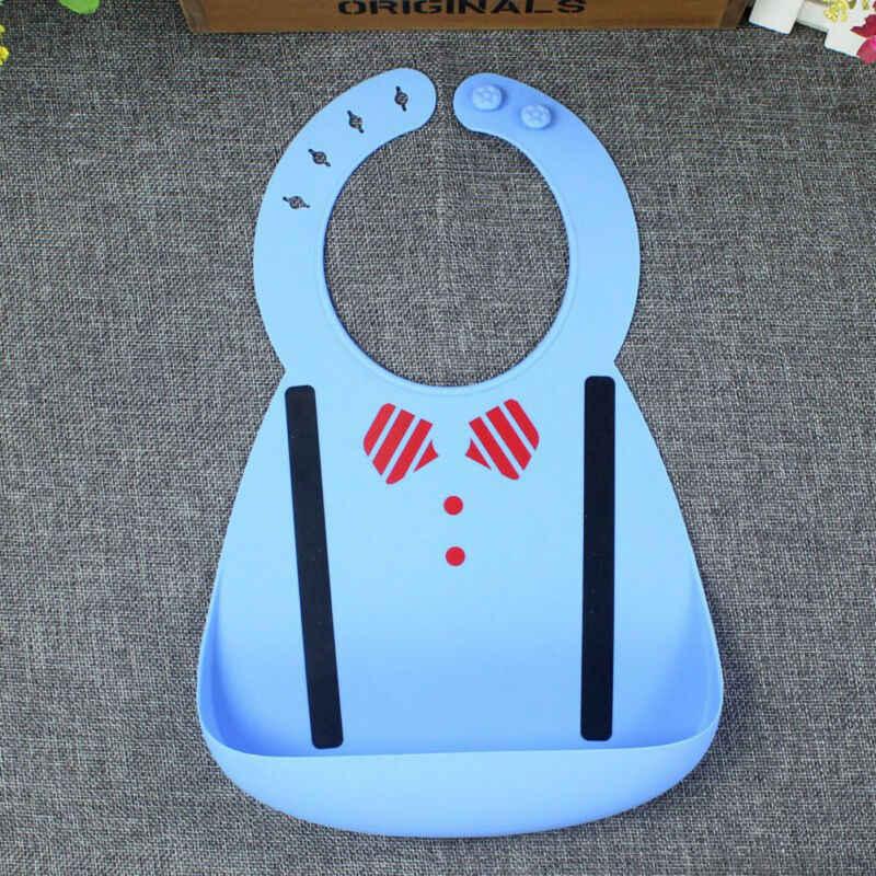 Goocheer Tahan Air Oto Bayi Silikon Bersendawa Kain Balita Disesuaikan Anak Feeding Celemek Air Liur untuk Makan Nasi Lukisan