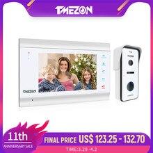 TMEZON-sistema de intercomunicación para puerta, 7 pulgadas, HD1080PVideo, cámara con cable de alta definición, compatible con monitor de desbloqueo