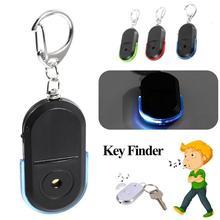 Беспроводной 10 м анти-потеря сигнализации ключ искатель брелок для ключей с локатором свисток звук со светодиодный светильник мини анти-потеря ключ искатель сенсор