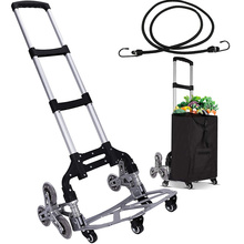 150kg Heavy Duty Foldable 10 Wheel Trolley Folding Truck Barrow Cart Travel Luggage Shopping Cart Portable Home Use Climb Stairs