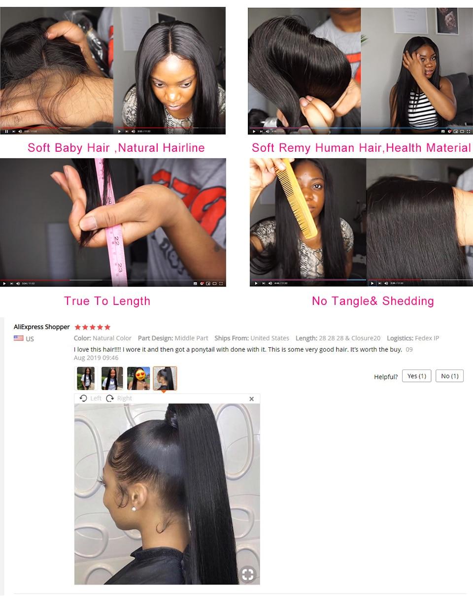 He9252bcf694c4b26a77062670b18acefj Alipop Hair Straight Hair Bundles With Closure Peruvian Hair 3 Bundles With Closure Remy 100% Human Hair Bundles With Closure