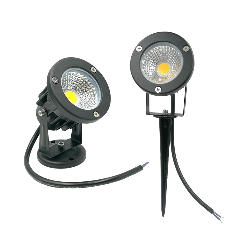 3W 5W 10W 12W  Mini Led Lawn Garden Light 12V 85-265V Outdoor IP65 Waterproof Spike Landscape Spot Light For Garden Lighting