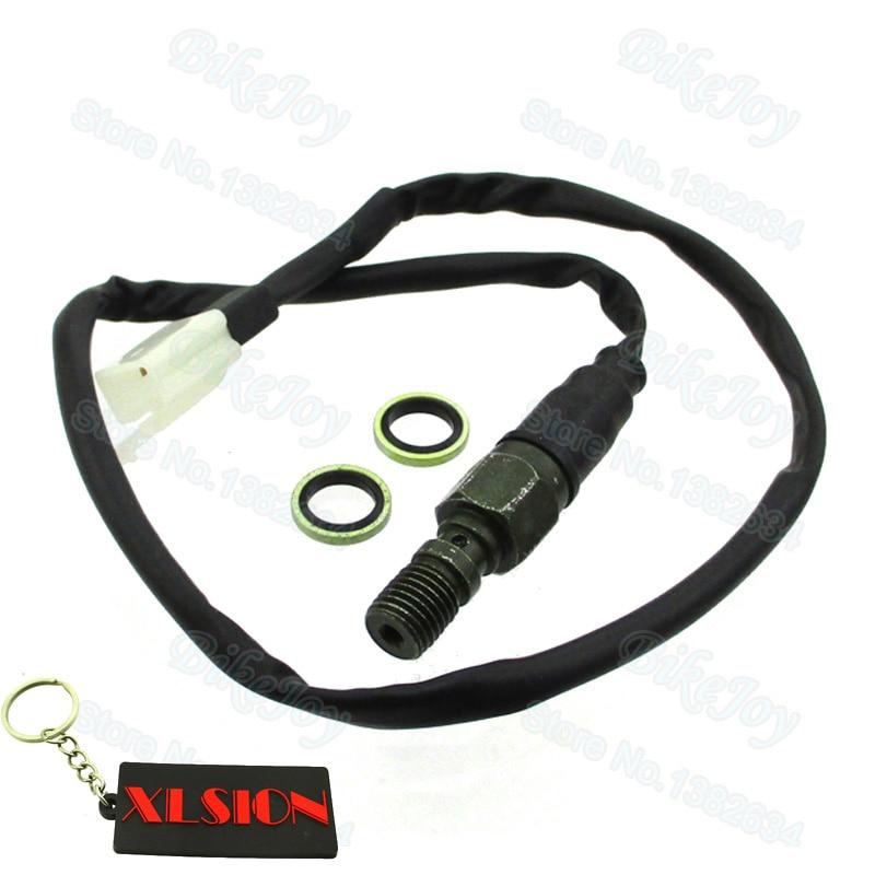 Hydraulic Brake Light Switch Banjo Bolt For ATV Motorcycles Dirt Bikes M10x1.25