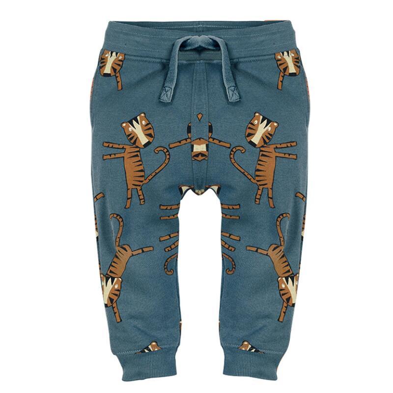 Little maven baby boy trousers children's knitted cotton stretch toddler boy animal dinosaur print pants 11031 1