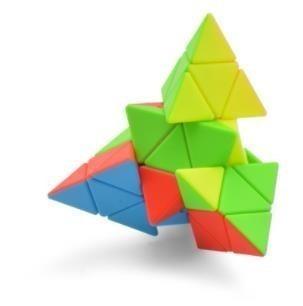 4x4x4 Pyramid Cube Black/Stickerless Magic Cube  95*95*95mm Pyramid Cube 4x4 Puzzle Pyramid Cube Special Toys For Children 7