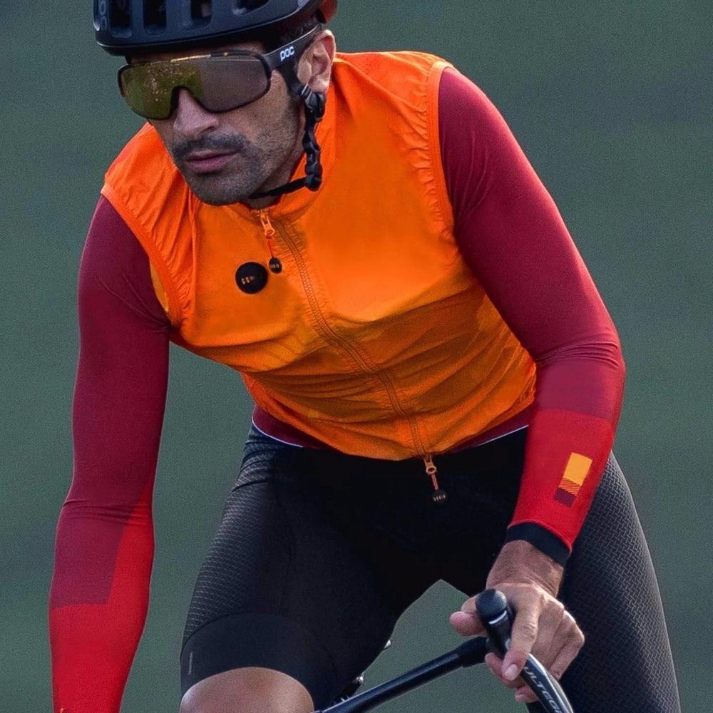 2020 Orange Musim Gugur Kualitas Tim Pro Ringan Tahan Angin Bersepeda Teratur Pria atau Wanita Bersepeda Penahan Angin Rompi MTB Angin Rompi
