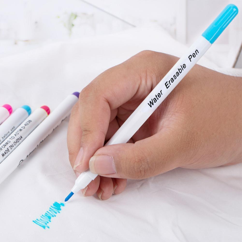 1pc Fabric Marker Water Soluble Pen Single Head Washing Ink Optional Multi-solor Vanishing Pen Erasable For Clothing Pen Di J7P4