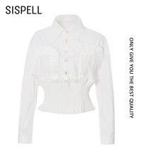Женская блузка с рукавами фонариками sispell Укороченная рубашка