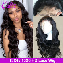 Celie – perruque Lace Frontal Wig Remy Body Wave 4x4, 13x6, avec Closure transparente HD, pour femmes