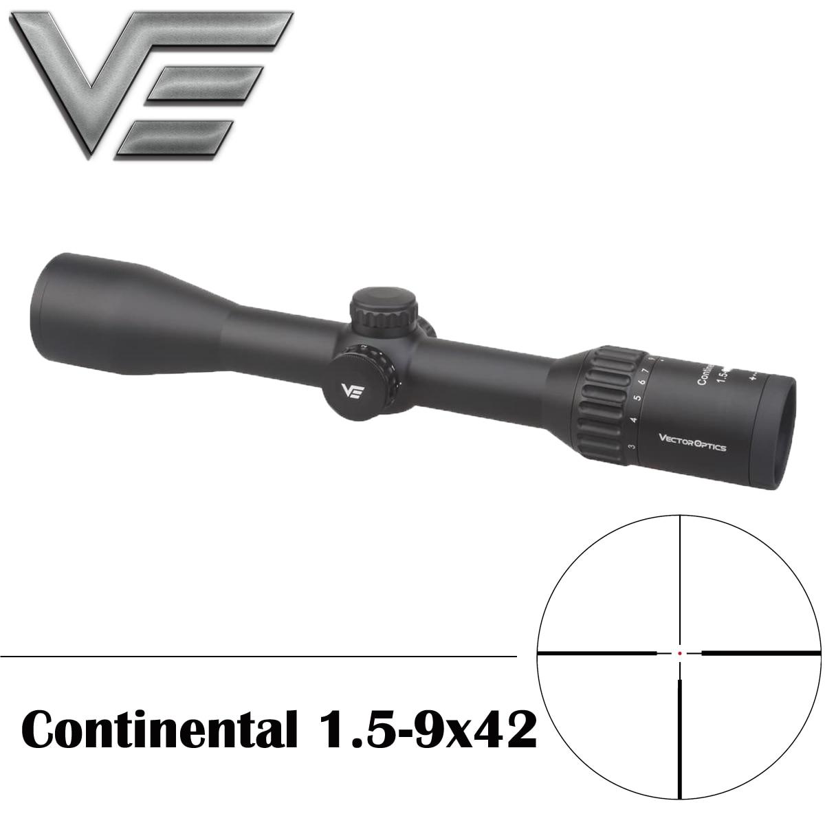 Vector Optics Continental 1 5 9x42 Riflescope Clear View Hunting Rifle Scope Illuminated Dot Reticle German