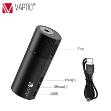лучшая цена 100W E Cigarette Vape mod Vaptio VEX 100 Box MOD suppor 21700/20700/18650 vape Battery 510 thread atomizer 0.15-3ohm resistances