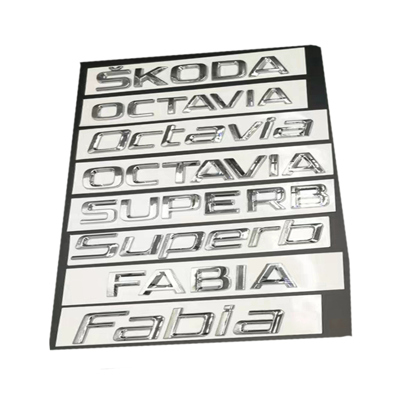 Image 2 - New Car Sticker 3D ABS Decal Badge Emblem For Skoda Octavia Kodiaq Superb Fabia Yeti Rapid 1ZD853675 Chrome Logo Car Styling-in Car Stickers from Automobiles & Motorcycles
