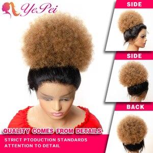 Image 4 - Yepei Extensions de cheveux Afro queue de cheval, cheveux humains bouffants, avec clips, cheveux crépus, bouclés, queue de cheval, 8 pouces