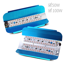 Borbede LED Grow Light 50W 100W 220V/110V Full Spectrum Indoor Grow Lights For Medicinal Plants Indoor Plants Veg and Flower