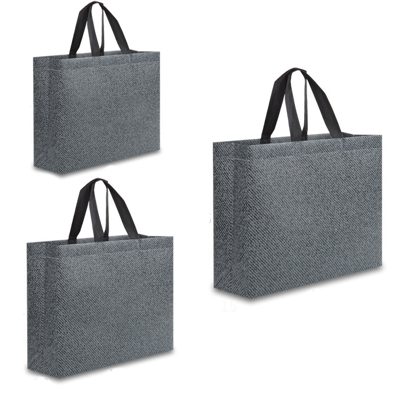 Women Foldable Shopping Bag Casual Eco Bag Large Waterproof Fabric Non-woven Bag No Zipper Solid Color Reusable Shopping Bag