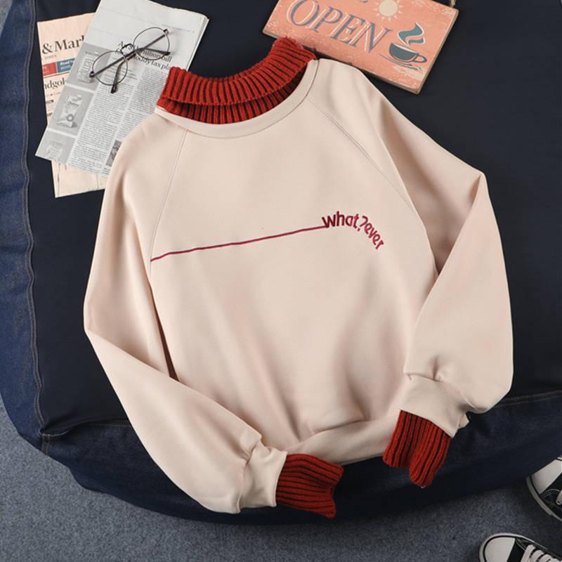 Women Fashion Autumn Spring Tops Ladies Kawaii Students Sweatshirt Hoodies Pink Ladies Jumper Cute Girls Korean Streetwear