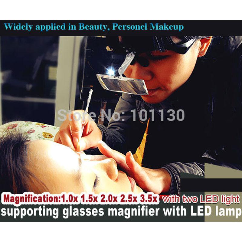 Kahe LED-lambi, klambri ja peapaelaga kaasaskantav suurendusklaas on - Mõõtevahendid - Foto 3