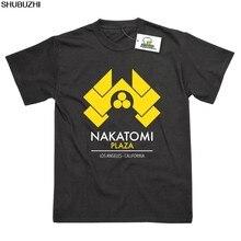 Nakatomi Plaza Humor Inspirado por Die Hard Impresso T-Shirt Top Camiseta de Algodão Homens Crewneck Tee Shirts Tops Tshirt Homme