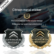 цена на Car 3D metal window body Decoration sticker For Citroen C1 C2 C3 C4 C5 C6 C8 C4L DS3 DS4 DS5 DS6 C-ELYSEE VTS  Accessories