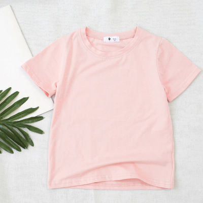 VIDMID children t-shirt Baby boys girls Cotton short sleeves tops tees clothes T-shirt kids summer solid color clothing  4006 04 5