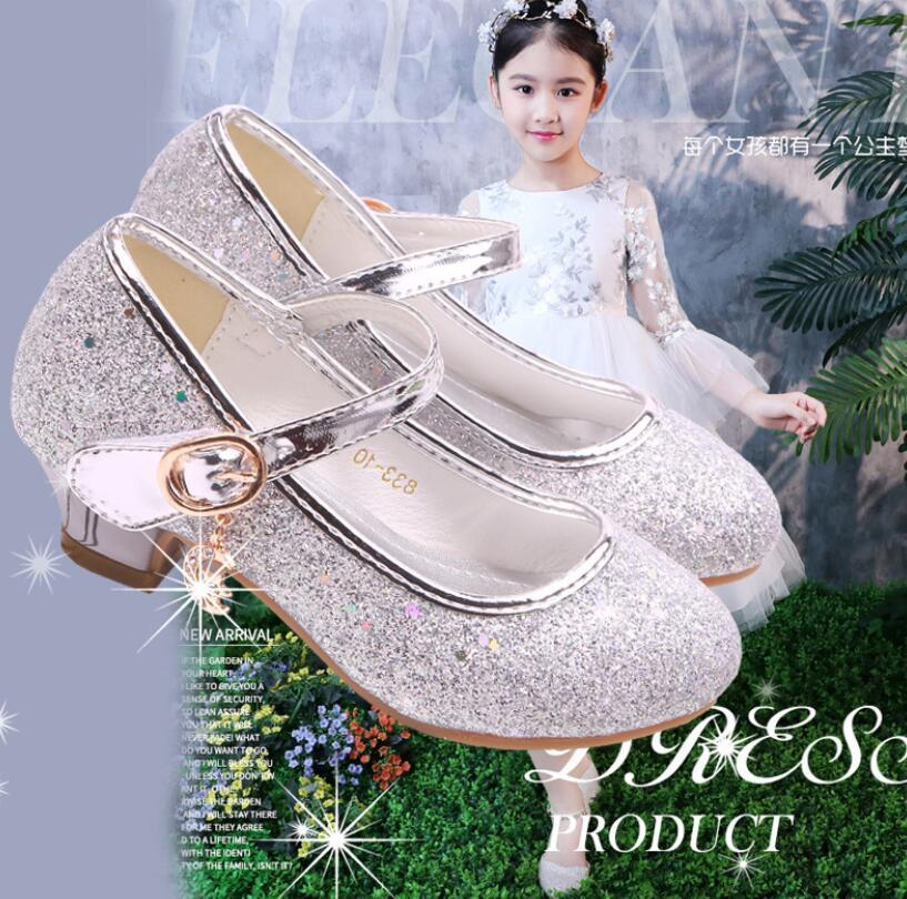 2020 Kids Leather Shoes Girls Wedding Dress Shoes Children Elsa Princess Bowtie Dance Shoes For Girls Casual Shoes Flat Sandals Leather Shoes Aliexpress