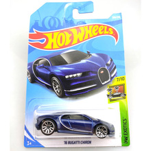 2019 Hot Wheels 1:64 Car 16 BUGATTI CHIRON Collector Edition Metal Diecast Model Cars Kids Toys Gift