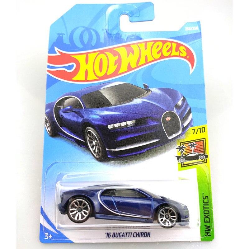 2019 Hot Wheels 1: 64 Auto 16 BUGATTI CHIRON Collector Edition Metall Diecast Modell Autos Kinder Spielzeug Geschenk