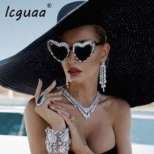 Роскошные Алмазные Солнцезащитные очки сексуальные треугольные
