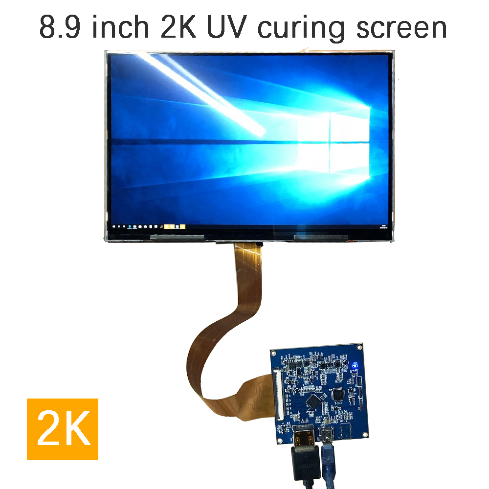 8.9 Inch 2560*1600 2K Monitor LCD Screen For Aida64 CPU GPU Computer System Sub Display Projector UV Curing SLA DLP 3D Printer