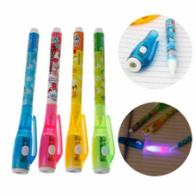 цена на Invisible Ink Pen With Magic UV Light Pen Invisible Ink Pen Funny Marker Pen School Supplies For Kids Gifts Random