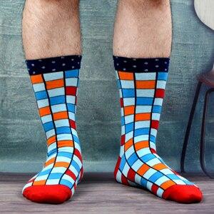 Image 3 - SANZETTI 8 paare/los Kühlen männer Bunte Lustige Gekämmte Baumwolle Neuheit Socken Casual Crew Socken Helle Party Kleid Socken Für geschenke