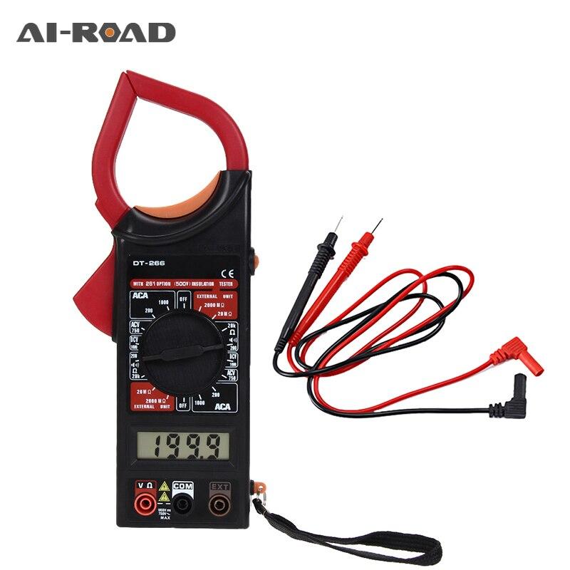 DT-266 Digital Amper Clamp Meter Multimeter NCV Current Clamp Pincers Voltmeter Ammeter 600A AC/DC Ohm Current Voltage Tester
