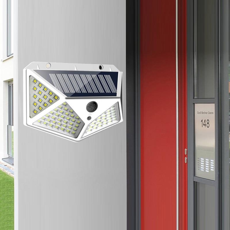 Outdoor LED Solar Light Solar Lamp With PIR Motion Sensor Solar Powered Waterproof Wall Light For Garden Yard Path Decoration
