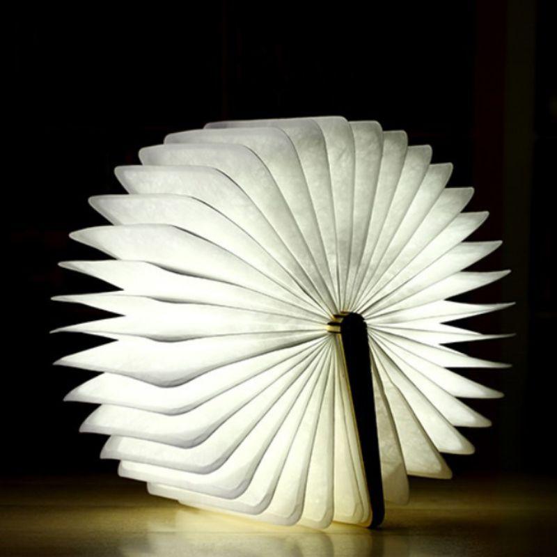 Бытовой деревянный книжный светильник, складной светодиодный светильник с зарядкой через Usb, портативная настольная лампа для украшения до...