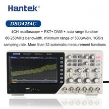 Hantek Digital Oscilloscope DSO4254C 4 ช่อง 250 MHz แบนด์วิดท์ LCD PC แบบพกพา USB Oscilloscopes 1GS/S