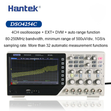 Hantek Digital Oscilloscope DSO4254C 4 Channels 250Mhz Bandwidth LCD PC Portable USB Oscilloscopes 1GS/s Sample Rate